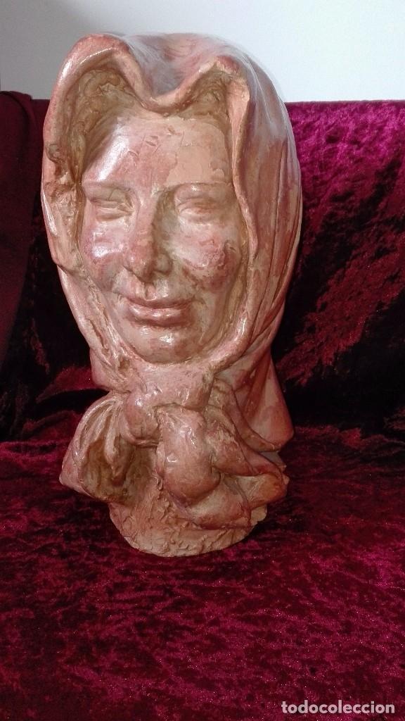 Arte: Preciosa escultura de barro cocido.años 50.Ronda. - Foto 2 - 136710598