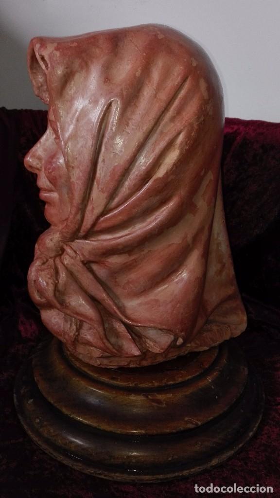 Arte: Preciosa escultura de barro cocido.años 50.Ronda. - Foto 3 - 136710598