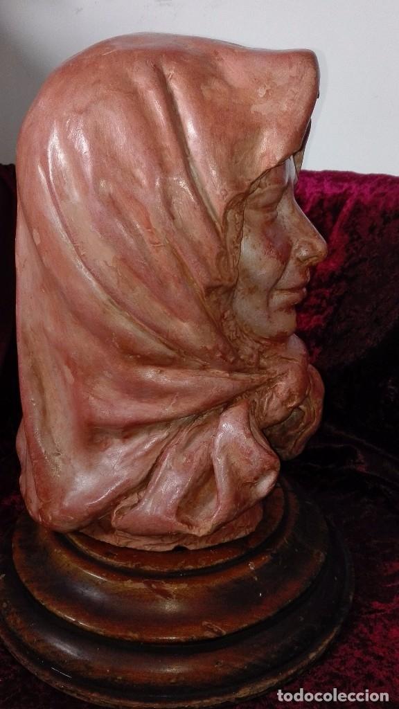 Arte: Preciosa escultura de barro cocido.años 50.Ronda. - Foto 5 - 136710598
