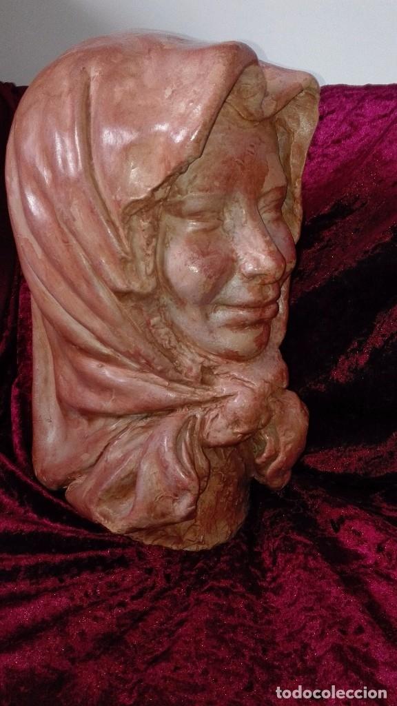 Arte: Preciosa escultura de barro cocido.años 50.Ronda. - Foto 8 - 136710598