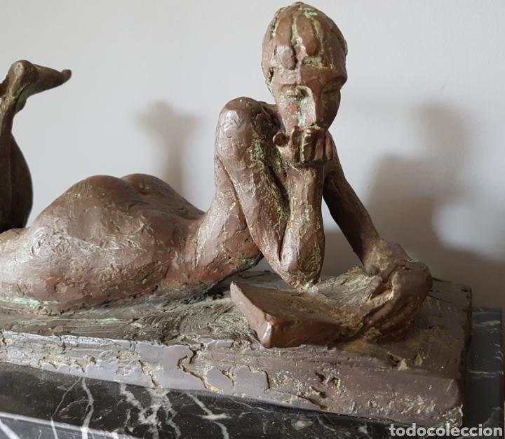 MERCÈ RIBA (1952) - LA LITERATURA,ENSAYO.BRONCE.FIRMADA.PUBLICADA.1991. (Arte - Escultura - Bronce)