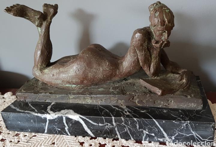 Arte: Mercè Riba (1952) - La Literatura,Ensayo.Bronce.Firmada.Publicada.1991. - Foto 3 - 136820736