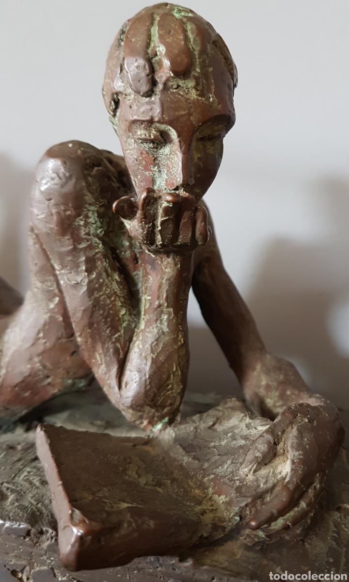 Arte: Mercè Riba (1952) - La Literatura,Ensayo.Bronce.Firmada.Publicada.1991. - Foto 7 - 136820736