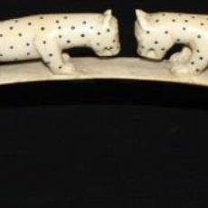 Arte: SENSACIONAL CUERNO DE ANIMALES REALIZADO EN MARFIL TALLADO. PRINCIPIOS SIGLO XX. Lote 136823806