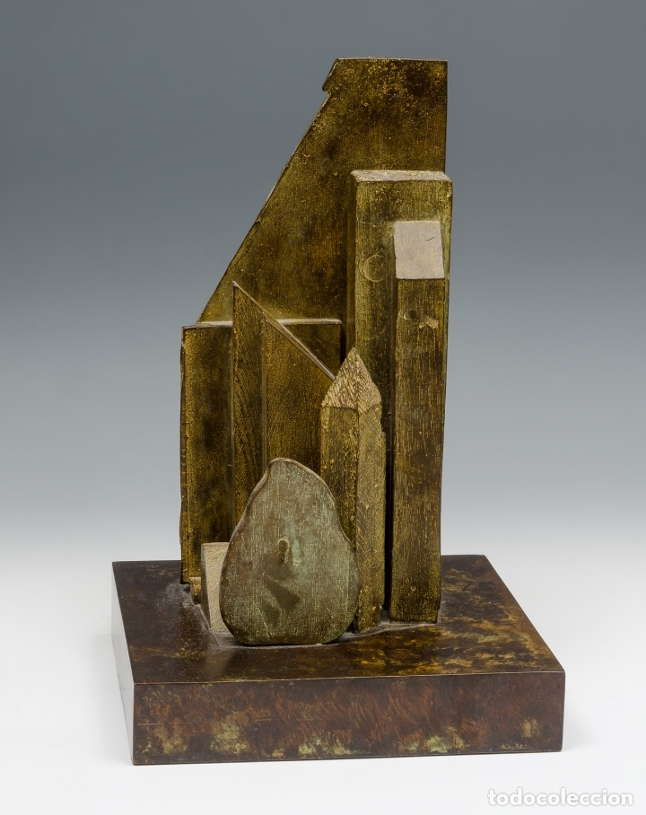 GERARDO RUEDA . BODEGÓN FRONTAL . BRONCE PATINADO . FIRMADO Y FECHADO 1993 (Arte - Escultura - Bronce)