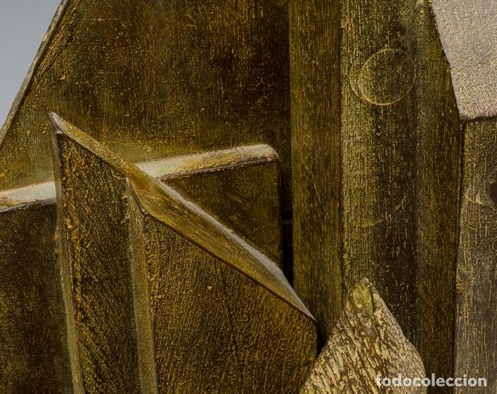 Arte: GERARDO RUEDA . Bodegón frontal . Bronce patinado . Firmado y fechado 1993 - Foto 5 - 46760839