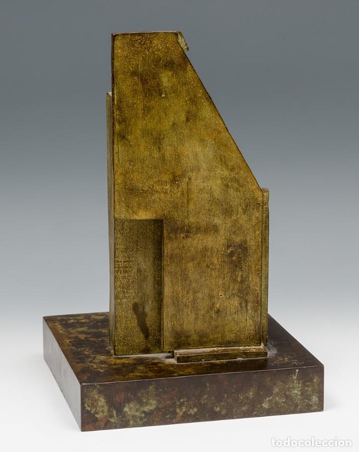 Arte: GERARDO RUEDA . Bodegón frontal . Bronce patinado . Firmado y fechado 1993 - Foto 6 - 46760839