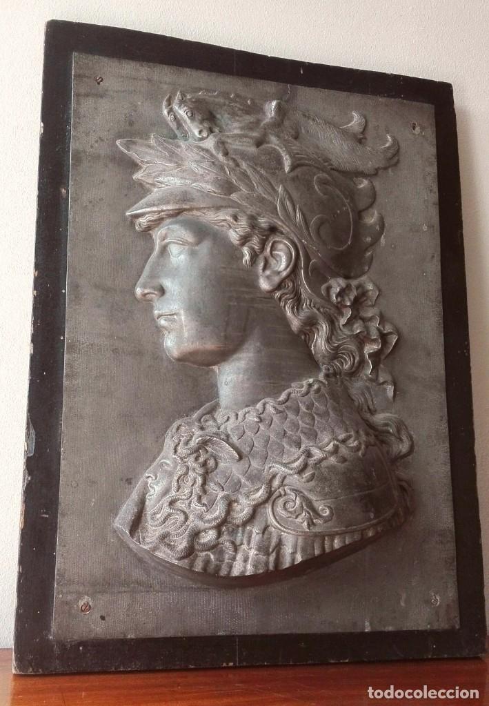 Arte: Relieve en Metal Busto Clásico. Inicios del Siglo XX. Francia - Foto 6 - 69679657