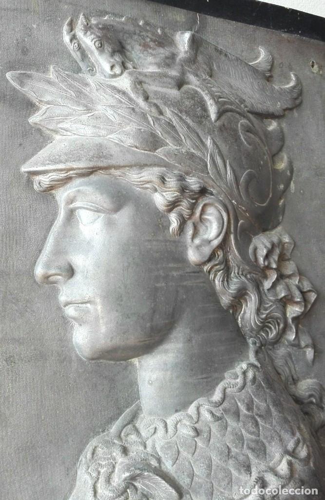 Arte: Relieve en Metal Busto Clásico. Inicios del Siglo XX. Francia - Foto 3 - 69679657