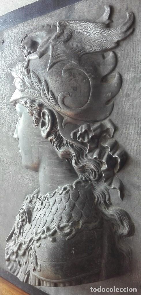 Arte: Relieve en Metal Busto Clásico. Inicios del Siglo XX. Francia - Foto 5 - 69679657