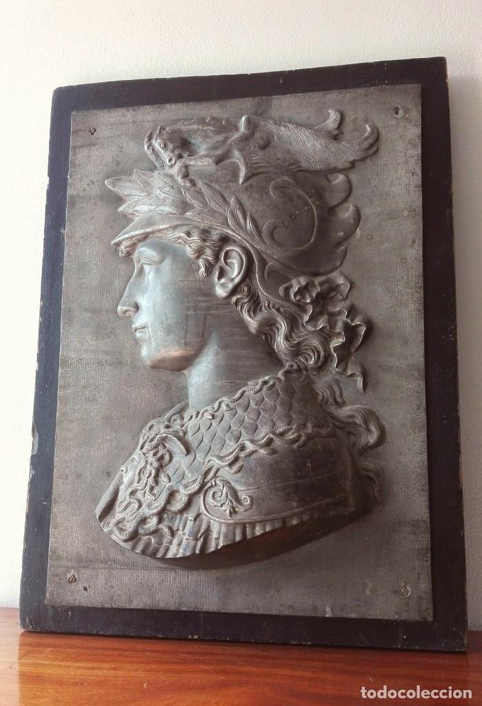 Arte: Relieve en Metal Busto Clásico. Inicios del Siglo XX. Francia - Foto 2 - 69679657