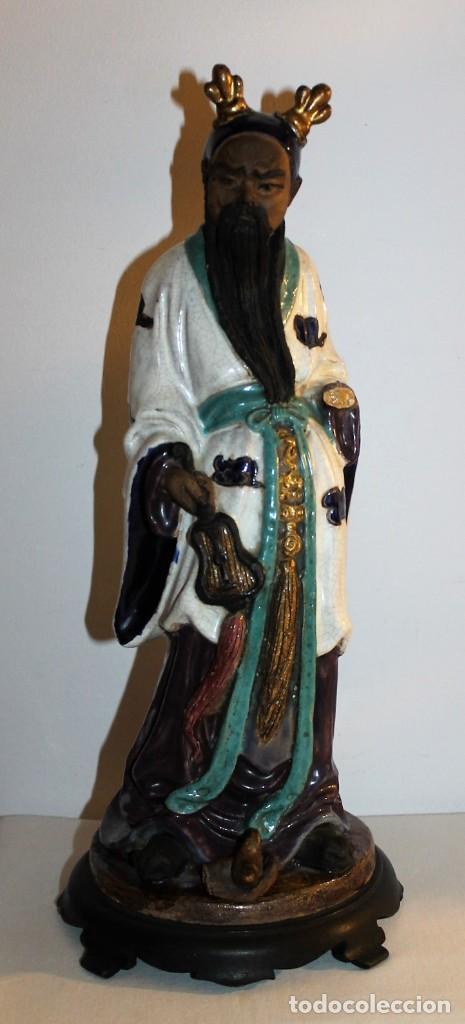 ANTONIO CAMPUZANO I SOLANS (1919-1988) - ESCULTURA EN TERRACOTA MÚSICO ORIENTAL - AÑOS 50 (Arte - Escultura - Terracota )