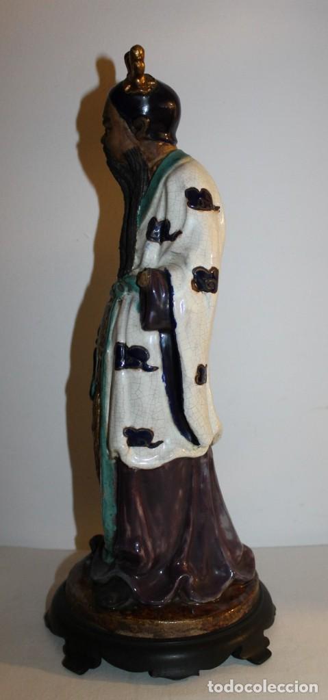 Arte: ANTONIO CAMPUZANO I SOLANS (1919-1988) - ESCULTURA EN TERRACOTA MÚSICO ORIENTAL - AÑOS 50 - Foto 6 - 137313938