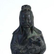 Arte: FIGURA CHINA EN ALEACIÓN DE HIERRO SIGLO XIX. Lote 137437034