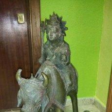 Arte: IMPRESIONANTE ESCULTURA HINDÚ DIOSA SHIVA SIGLO XVIII. Lote 137470250
