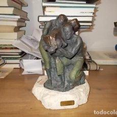 Arte: IMPRESIONANTE ESCULTURA PATINADA AL BRONZE DE L.M. LAFUENTE. FIRMADA Y NUMERADA. 40/2500. UNA JOYA!!. Lote 137484710