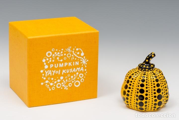 Arte: YAYOI KUSAMA Escultura calabaza Sculpture Pumpkin ( Yellow / Black ) - Foto 5 - 72874419