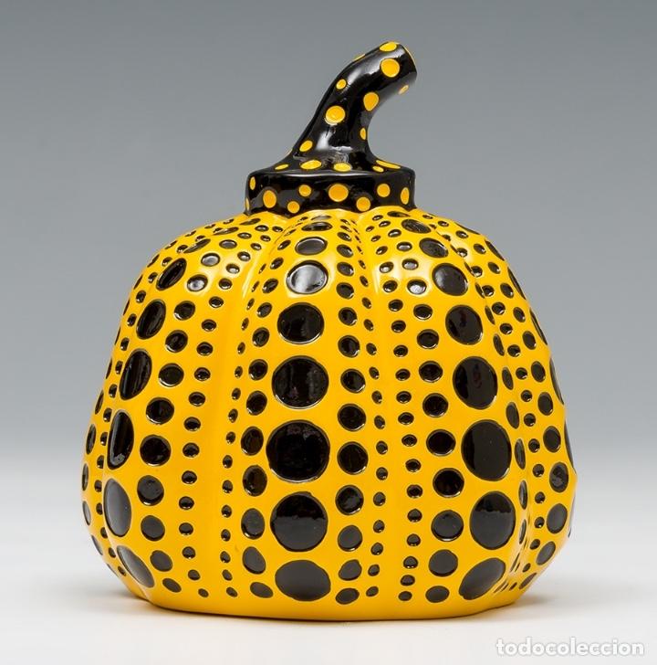 Arte: YAYOI KUSAMA Escultura calabaza Sculpture Pumpkin ( Yellow / Black ) - Foto 6 - 72874419