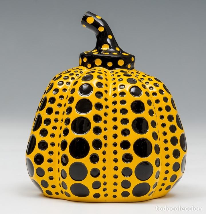 Arte: YAYOI KUSAMA Escultura calabaza Sculpture Pumpkin ( Yellow / Black ) - Foto 8 - 72874419