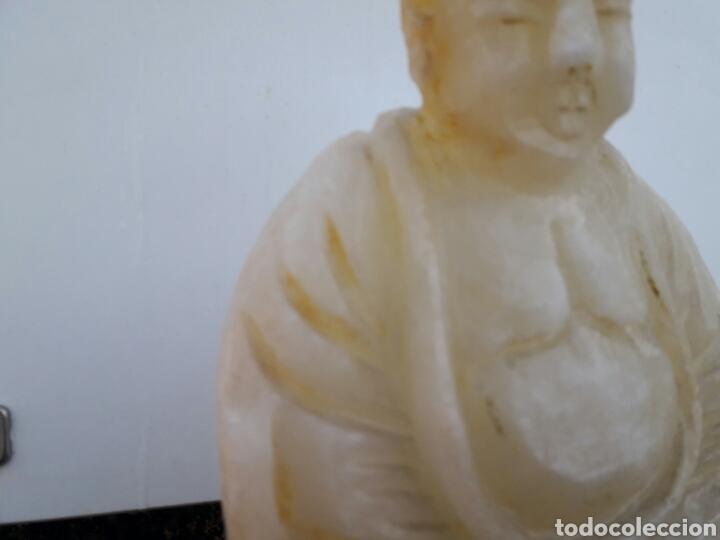 ESTATUILLA DE BUDA EN ALABASTRO (Arte - Escultura - Alabastro)