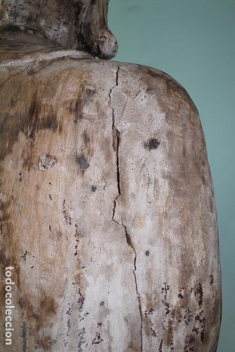 Arte: BUDA EN TALLA DE MADERA. FINALES DEL SIGLO XVIII 273 X 70 CMS. - Foto 9 - 138123198