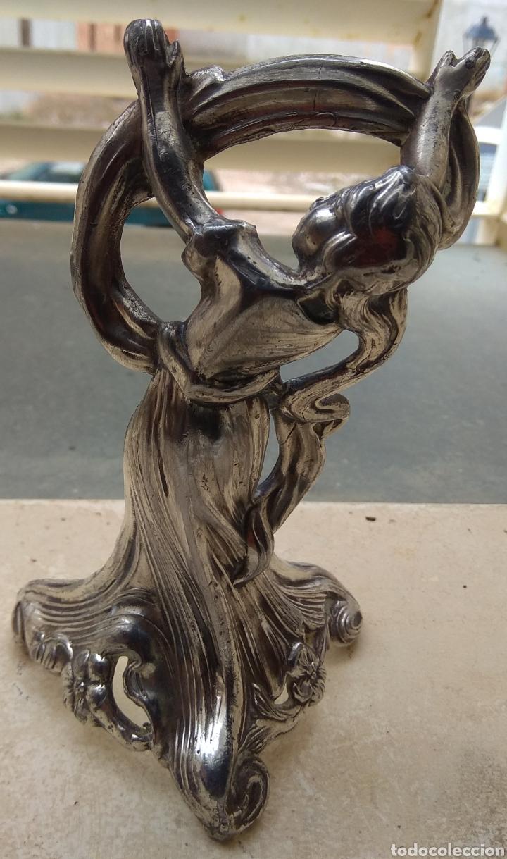 Arte: Antigua Figura - Escultura de Bronce Dama Modernista - Art Noveau - - Foto 3 - 138275550