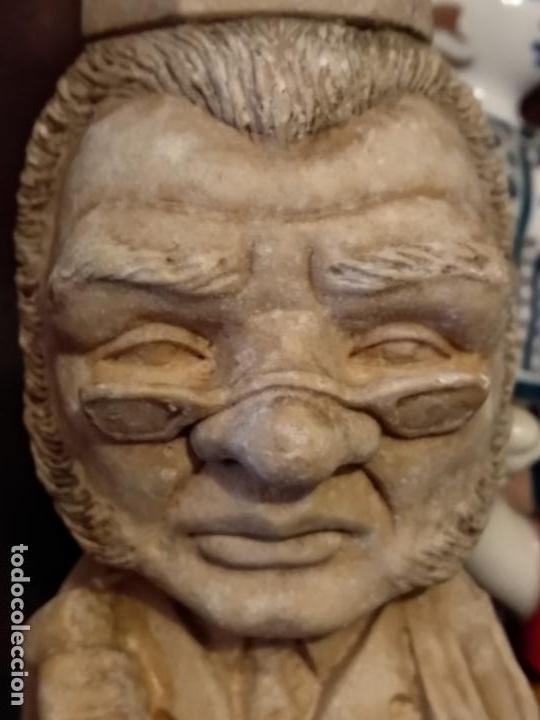 ESCULTURA PIEDRA 18 CM FRASE CONDE DE GUIBERT (Arte - Escultura - Piedra)