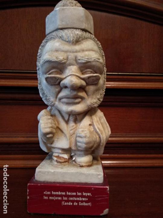 Arte: Escultura piedra 18 cm frase conde de Guibert - Foto 2 - 138665394