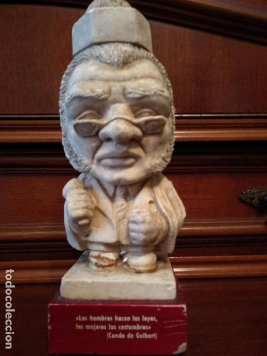 Arte: Escultura piedra 18 cm frase conde de Guibert - Foto 6 - 138665394