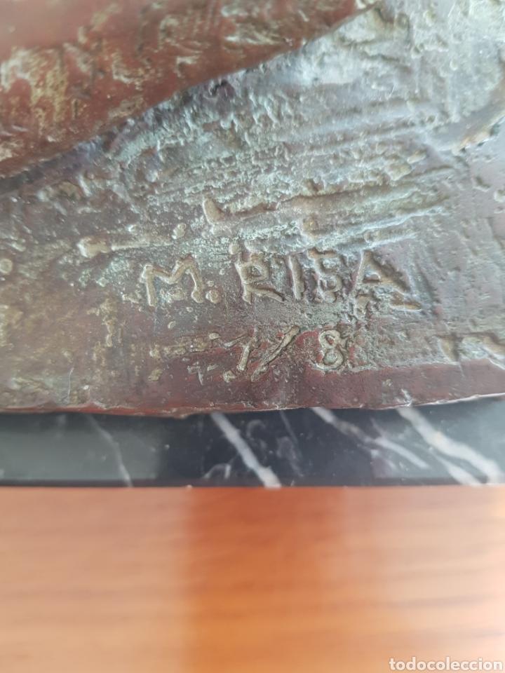 Arte: Mercè Riba (1952) - La Literatura,Ensayo.Bronce.Firmada.Publicada.1991. - Foto 10 - 136820736