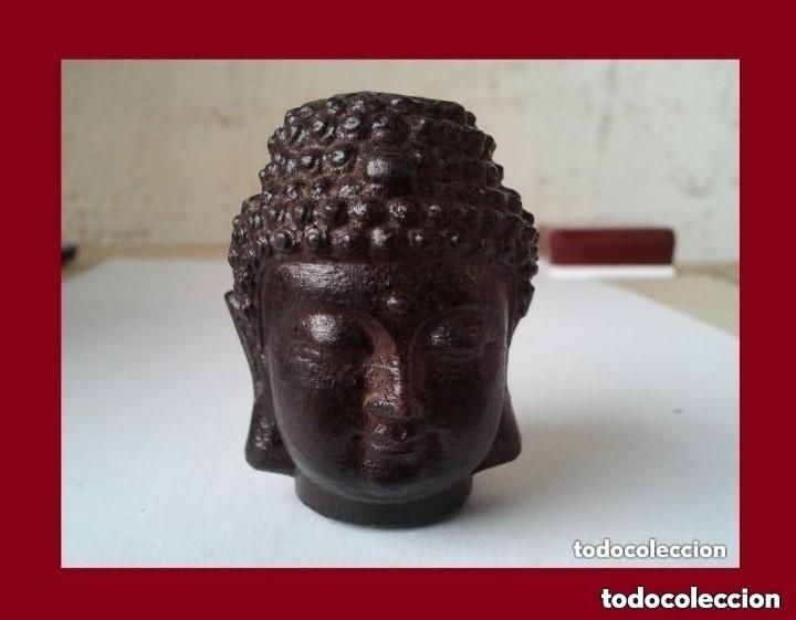 PRECIOSA FIGURA DE MADERA DE LA CABEZA DE BUDA. PROCEDE DE CHINA Y ES PARA LA BUENA SUERTE Y RIQUEZA (Arte - Escultura - Madera)