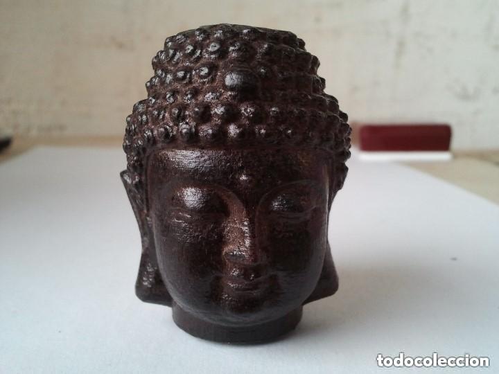 Arte: Preciosa figura de madera de la cabeza de buda. Procede de China y es para la buena suerte y riqueza - Foto 35 - 147756233