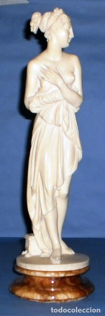 FIGURA CLÁSICA DE MUJER DE ALABASTRO DE ARNALDO GIANNELLI (Kunst - Skulpturen - Alabaster)