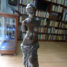 Arte: ESCULTURA ANTIGUA EN BRONCE. VENUS DE MILO. 17 CM DE ALTO. Lote 139513322