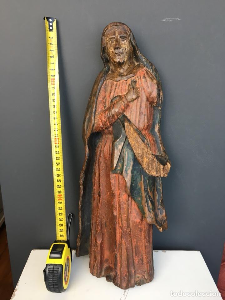 Kunst: Dolorosa. 43cm Talla de madera S. XVII. Escuela española - Foto 3 - 140493309