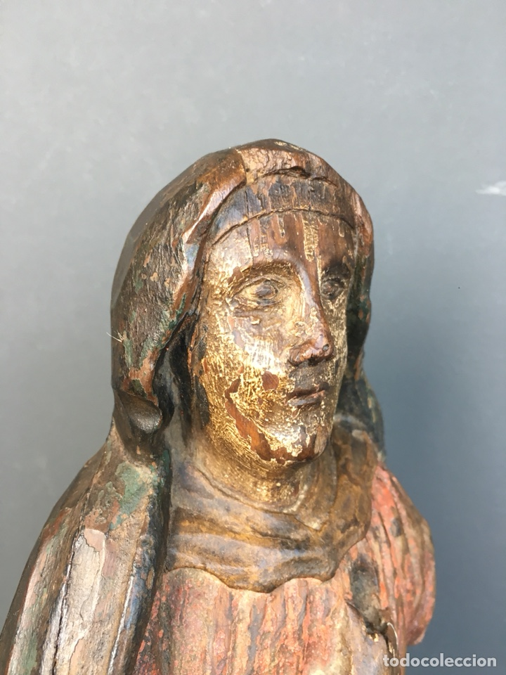 DOLOROSA. 43CM TALLA DE MADERA S. XVII. ESCUELA ESPAÑOLA (Kunst - Skulpturen - Holz)