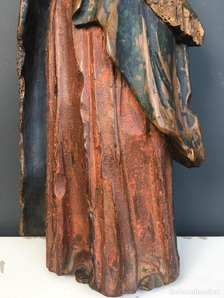 Kunst: Dolorosa. 43cm Talla de madera S. XVII. Escuela española - Foto 5 - 140493309