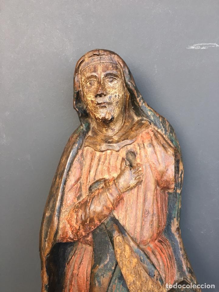 Kunst: Dolorosa. 43cm Talla de madera S. XVII. Escuela española - Foto 7 - 140493309