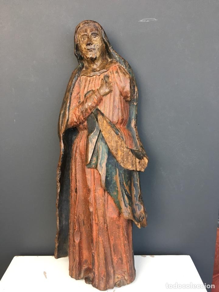 Kunst: Dolorosa. 43cm Talla de madera S. XVII. Escuela española - Foto 8 - 140493309