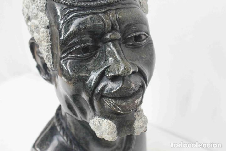 Arte: BUSTO HOMBRE AFRICANO PIEDRA - Foto 8 - 140743658