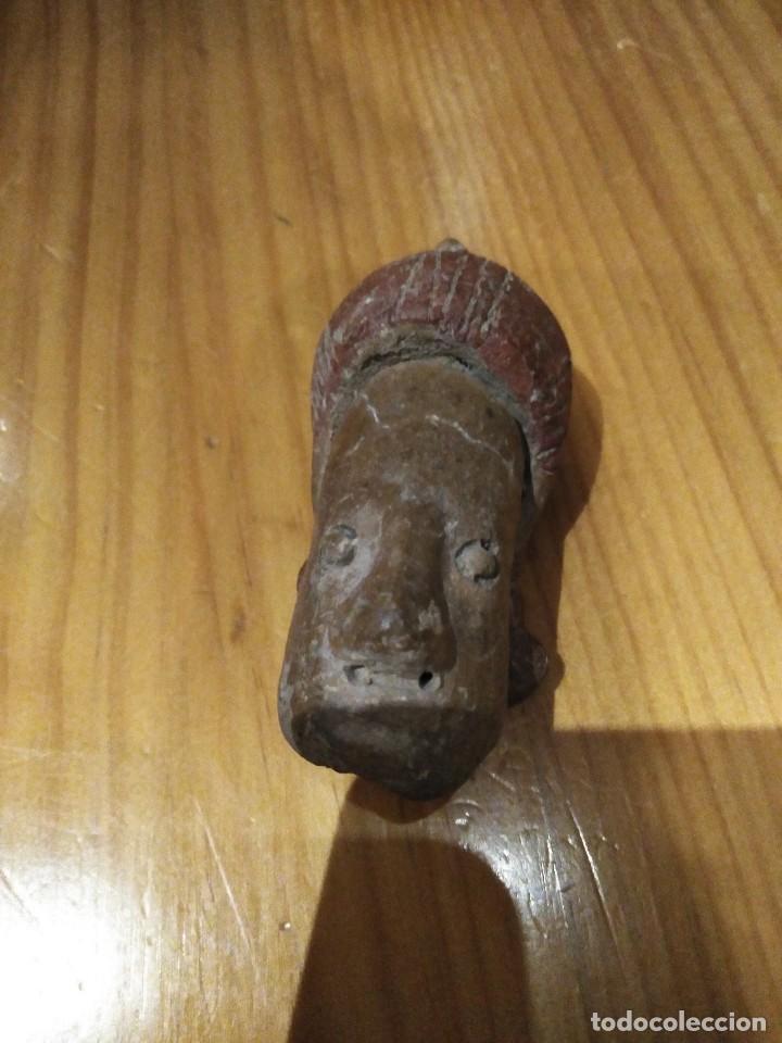 FRAGMENTO DE ARQUEOLOGÍA AZTECA PRECOLOMBINA (Arte - Escultura - Terracota )