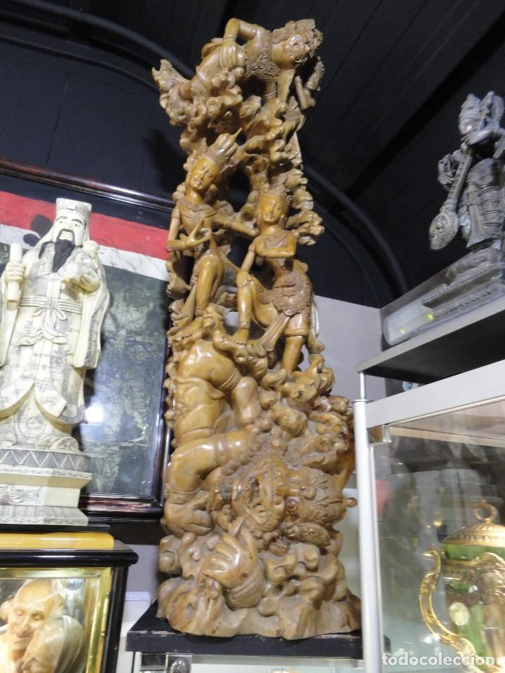 GRAN ESCULTURA TALLADA (Arte - Escultura - Madera)
