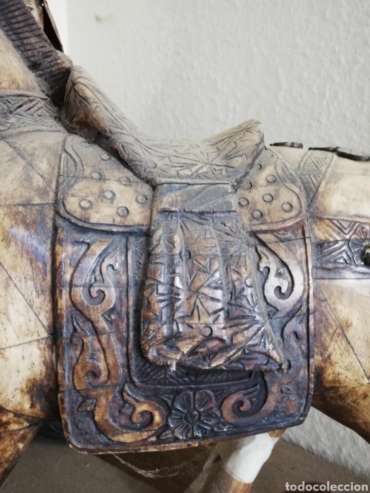 Arte: Hueso..Antigua Escultura o figura de hueso.. De 40cm o un poco más por 40 - Foto 2 - 141333444
