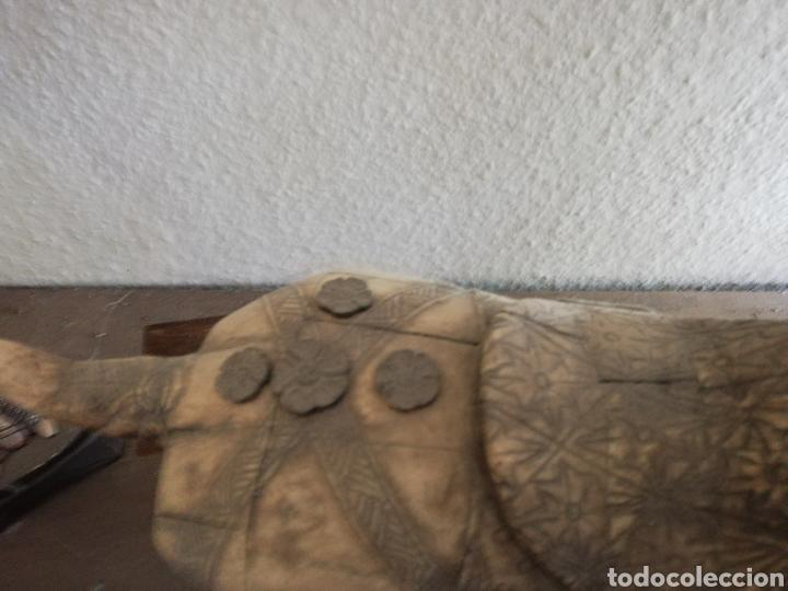Arte: Hueso..Antigua Escultura o figura de hueso.. De 40cm o un poco más por 40 - Foto 5 - 141333444