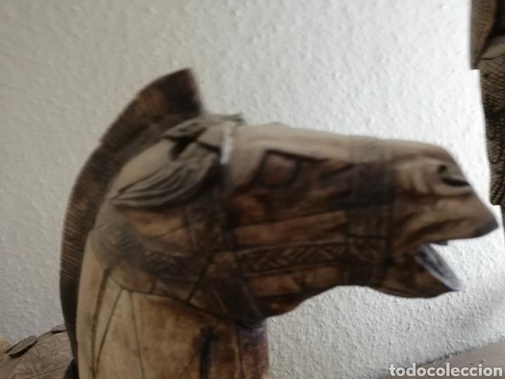 Arte: Hueso..Antigua Escultura o figura de hueso.. De 40cm o un poco más por 40 - Foto 7 - 141333444
