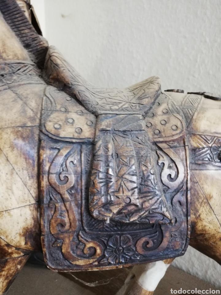 Arte: Hueso..Antigua Escultura o figura de hueso.. De 40cm o un poco más por 40 - Foto 9 - 141333444