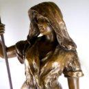 Arte: FRIEDRICH GOLDSCHEIDER (1845-1897)-ESPECTACULAR FIGURA ART NOUVEAU DE TERRACOTA POLICROMADA-92 CM. Lote 141474874