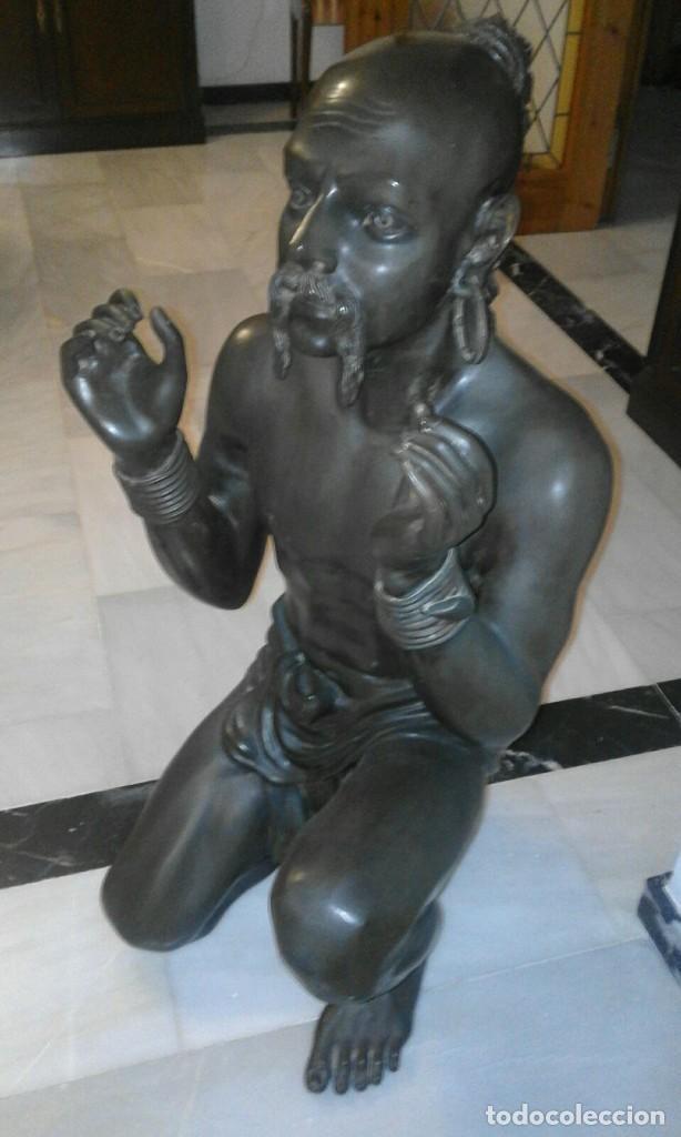 PAREJA DE ESCULTURAS DE BRONCE (Arte - Escultura - Bronce)