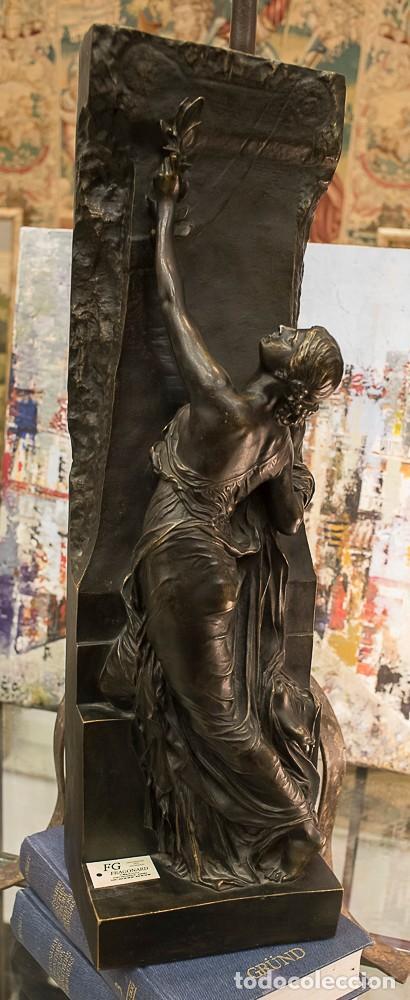 ESCULTURA DE BRONCE ESCUELA FRANCESA ART NOUVEAU . CIRCA 1900 (Arte - Escultura - Bronce)