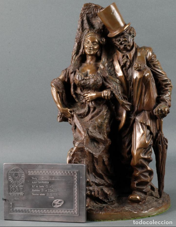 ESCULTURA CARNAVAL EN BRONCE VICENTE MENENDEZ PRENDES SANTARUA 2/40 CERTIFICADO AUTENTICIDAD (Arte - Escultura - Bronce)